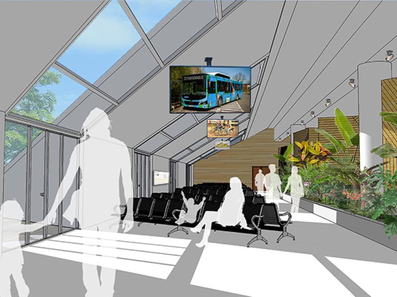 Un lounge durable va accueillir les visiteurs du ZOO Planckendael dès la gare de Malines