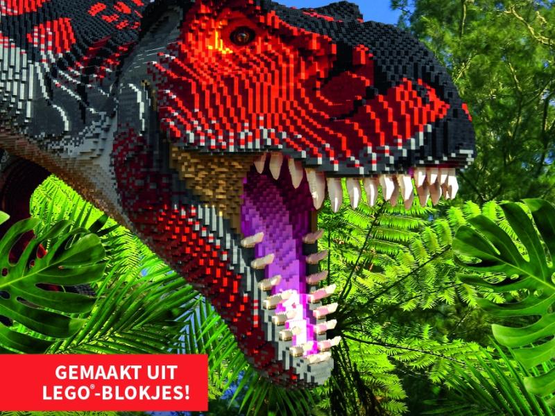 Brickosaurus au ZOO Planckendael : une exposition de dinosaures en cubes LEGO®